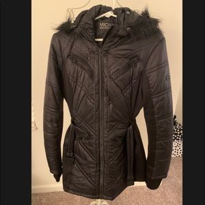 Michael Kors Black Snakeskin Jacket size Large